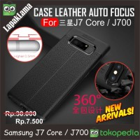 Case Leather Auto Focus Original Samsung Galaxy J7 Core J700 J7 2015
