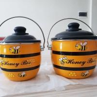 Panci Honey Bee Pot 18cm / Maspion Enamel Alat Masak Cantik 18 cm