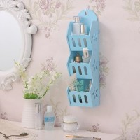 [HB529 BIRU]Colorful Storage Decorative Rack Shabby chic rak hp remote