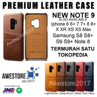 Leather Case Card Slot Casing Kulit Samsung S9 S9+ S8 S8+ Plus Note 8