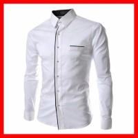 Harga baju kemeja pria lengan panjang cowok slimfit laki laki peter | Hargalu.com