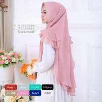 Hijab Khimar Syari Hanum Swarowski 2 Layer Murah