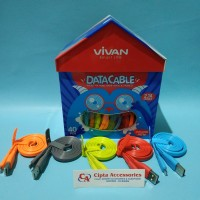 Kabel Vivan CSM100S Toples Gepeng Panjang 100cm 2 Ampere