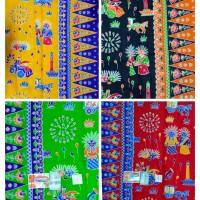 Kain batik betawi halus primisima cap cent / motif betawi ondel ondel