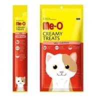 Me-O - Crab Flavor Creamy Treats Cemilan Kucing meo isi 4 sachet meo