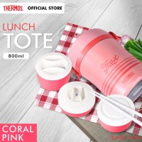 Thermos Vacuum Lunch Tote Insulated Coral Pink (JBC-801-CP)