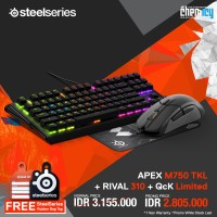 PROMO Steelseries : Apex M750 TKL + Rival 310 + QcK Limited