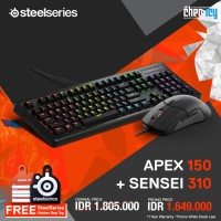 PROMO Steelseries : Apex 150 + Sensei 310