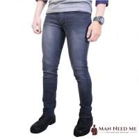 Celana Jeans Pria SLIM FIT DENIM STRETCH - ABU-ABU
