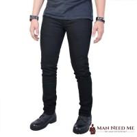 Celana Jeans SLIM FIT Pria Denim STRETCH - Hitam