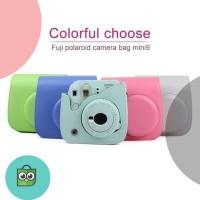 Fujifilm Kamera Instax Mini 9 Polaroid Leather Case Camera