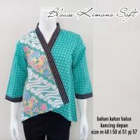 Batik Rifa BBR04 Atasan Batik Wanita Blouse Kimono Kantoran