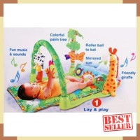 Matras Bermain Bayi Baby Gift Jerapah / Baby Playmat Rainforest