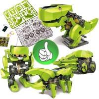 Mainan Edukatif Robot Dinosaurus Rakit Solar Toy Puzzle Do It Yourse