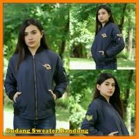 Jaket Wanita Bandung Armed Bomber Navy Terbaru