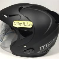 Helm SNI Terbaik MDS Protector Solid Hitam Doff black dop Original