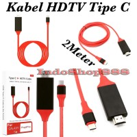 Kabel USB 3.1 Tipe C USB-C to 4K HDMI HDTV untuk Samsung Galaxy S8