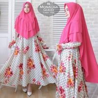 Baju Busana Muslim Wanita Gamis Syari Monalisa Gucci Pink Terbaru