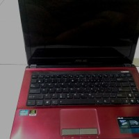 Laptop Gaming Asus A43SD Core I3 Nvidia Geforce 610M - Merah