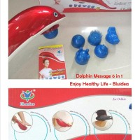 Alat Pijat Dolphin Infrared Massage 6 in 1 Enjoy Healthy Life - Bluide