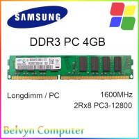 Samsung 4GB DDR3 PC 12800 1600 MHz RAM Memory PC Garansi Lifetime