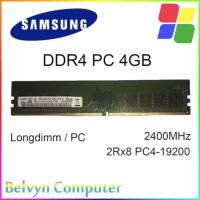 Samsung 4GB DDR4 PC 19200 2400 MHz Memory RAM PC Garansi Lifetime