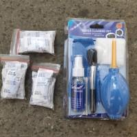 paket pembersih kamera dan silica gel