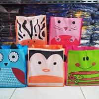 TENTENG MEDIUM ANIMAL Goodie Bag Ultah Anak harga MURAH Tas Souvenir
