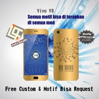 Garskin HP Vivo V5 Motif gold - motif bisa request