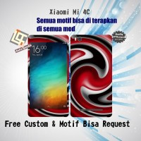 Garskin HP Xiaomi MI 4C Motif red circle - motif bisa request