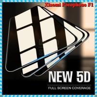 Tempered Glass Warna 5D Pocophone F1 Premium Screen Guard Full Glue