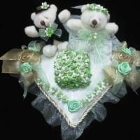 Bantal Cincin Boneka / Bantalan Kotak Cincin Wedding Ring Pillow 4104