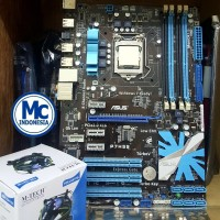 Paketan Mainboard Intel Atx 1156 P7H55 Seragam Asus Plus I3 Fan new