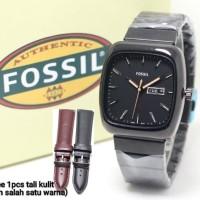 Jam Tangan Pria Fossil Rantai Paket Free Tali