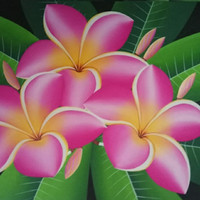 Jual Lukisan Bunga Kamboja Ping Bali Kab Gianyar Wayan Sukawati Painting Tokopedia