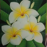 Jual Lukisan Bunga Kamboja Putih Bali Kab Gianyar Wayan Sukawati Painting Tokopedia