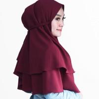 Hijab Khimar 2 Layer Bella - Jilbab Instan Bergo Cantik Murah