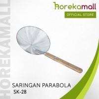 Serok (Saringan) Parabola Gagang Kayu 28 cm Mutu SK-28