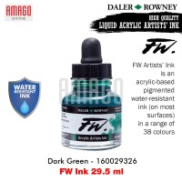 DALER-ROWNEY - FW INK 29.5 ML - DARK GREEN - 160029326