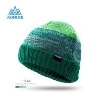 Aonijie M25 Winter Knitted Cap - Topi Kupluk Lari Outdoor - OLIVE
