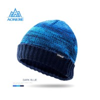 Aonijie M25 Winter Knitted Cap - Topi Kupluk Lari Outdoor - BLUE
