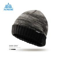 Aonijie M25 Winter Knitted Cap - Topi Kupluk Lari Outdoor - GRAY