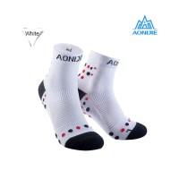 Aonijie E4092 Running Socks - Kaos kaki lari sepeda outdoor- WHITE