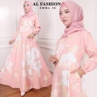 Maxi Emma (58) Bunga Baju Muslim Wanita Gamis Model Kekinian Terbaru