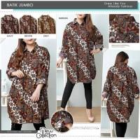 Baju Batik Wanita Jumbo Kemeja Batik Wanita Jumbo Big Size S15039-4XL
