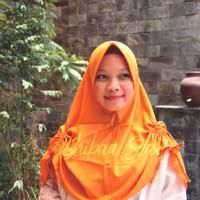 Khimar Serut fatharani - Jilbab Pashmina Syar'i Khimar Murah Kerudung