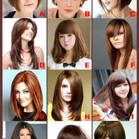 Harga poster model rambut wanita salon kecantikan size a3 | antitipu.com