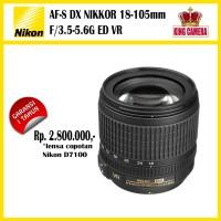 Nikon AF-S DX 18-105mm F/3.5-5.6G ED VR lensa copotan D7100