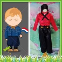 Kostum Anak Laki - Laki Baju Tradisional Negara Belanda 2 - 12 Tahun