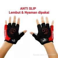 Sarung Tangan Gloves ANTI SLIP Gym Fitness Hand Wrap - Moke